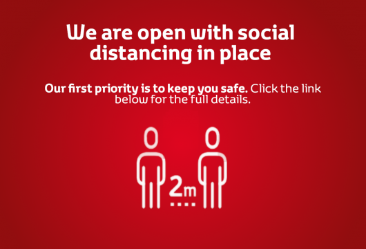 We are now open with social distancing in place
